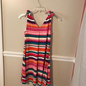 NWT Spense Multi-color Horizontal Stripe Sundress